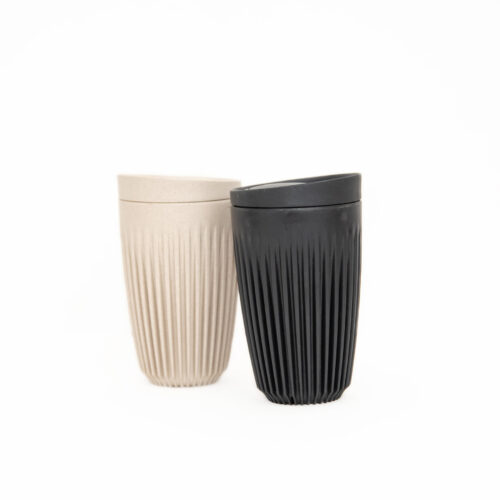 12oz HuskeeCup in black and natural