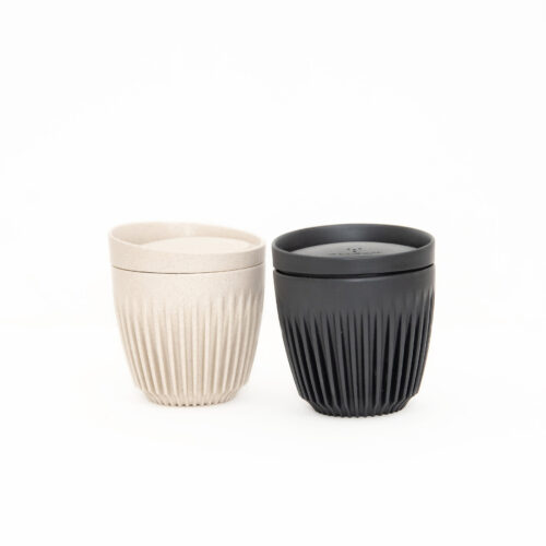 8oz HuskeeCup in natural and black