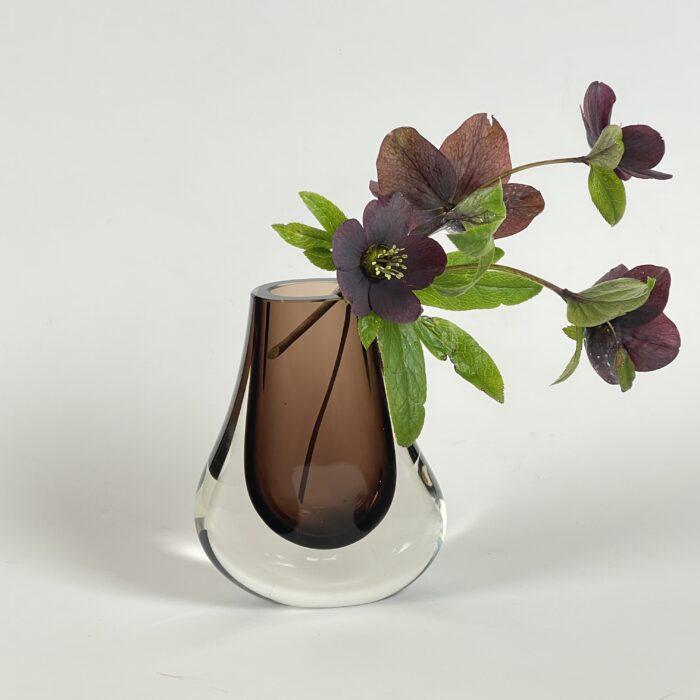 brown teardrop vase