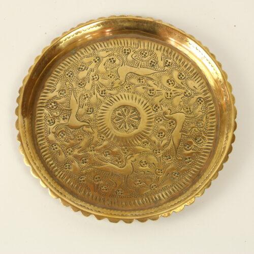 tiny brass tray scallop edge