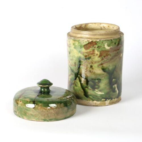 glazed puglian storage jar