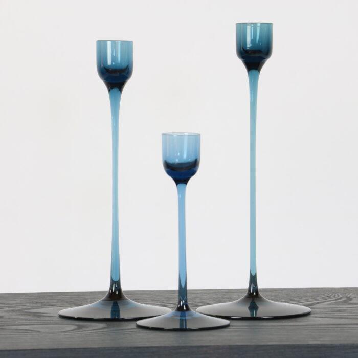 Set of 3 vintage candlesticks