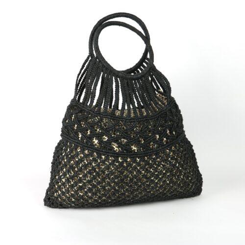 Black macrame everyday bag 2