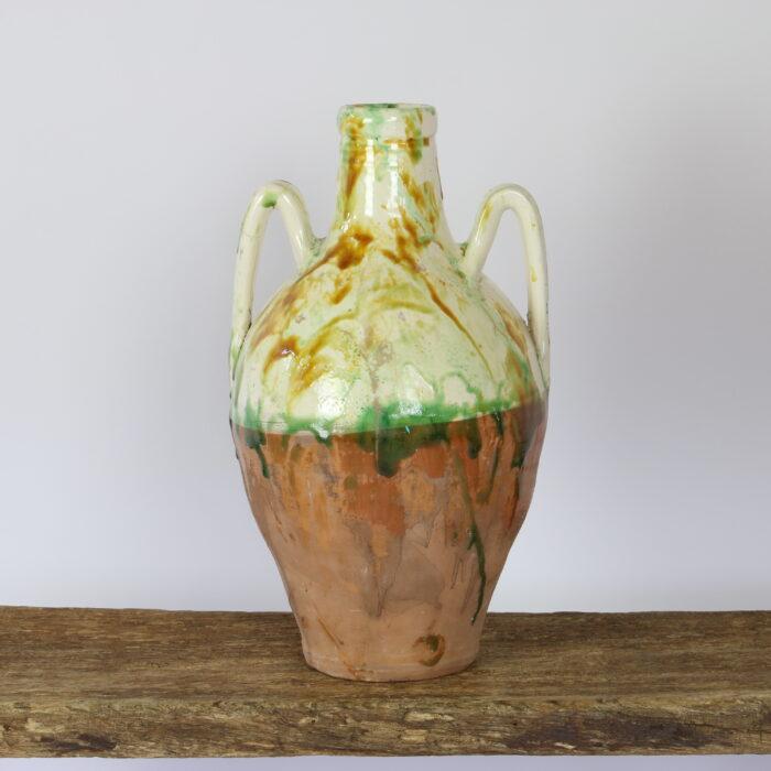 half glazed puglian amphora