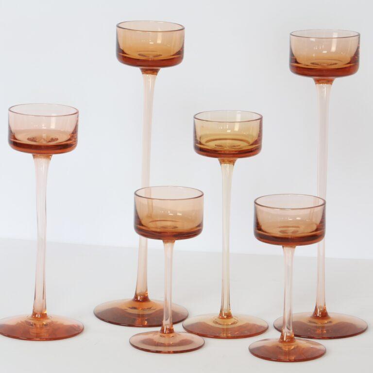 amber brancaster candlesticks
