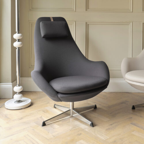 Grey Alf Svensson swivel chair