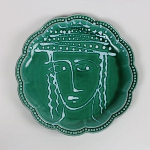 GREEN SCALLOPED FASANO DINNER PLATE